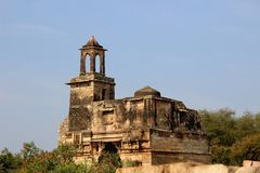 Watch Tower at Palace. Top portion of palace having watch tower at Chittorgarh Fort, Rajasthan, India, Asia Royalty Free Stock Photography