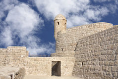 Watch tower in Portuguese Fort in Bahrain Stock Images