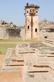 Watch tower of royal fort Zenana Enclosure at Hampi Royalty Free Stock Photo