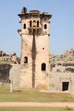 Watch tower of royal fort Zenana Enclosure at Hampi Stock Photography