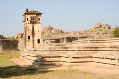 Watch tower of royal fort Zenana Enclosure at Hampi Royalty Free Stock Photos