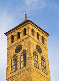 Watch tower in Sarajevo. The capital city of Bosnia and Herzegovina royalty free stock image