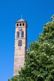 Watch tower in sarajevo. A old ottoman period watch tower in sarajevo under the blue sky royalty free stock image