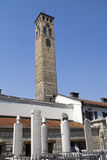 Watch tower in Sarajevo. The capital city of Bosnia and Herzegovina royalty free stock photo