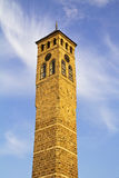 Watch tower in Sarajevo,. The capital city of Bosnia and Herzegovina stock images