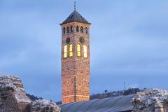 Watch tower in Sarajevo Royalty Free Stock Photo