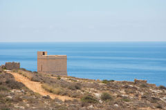 Watch tower by the sea. Watch tower overlooking the ocean Royalty Free Stock Photography
