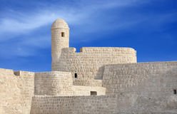 Watch tower at the south corner of Bahrain fort Stock Photos