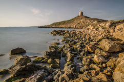 Watch tower, St. Marco cape, Sardinia Royalty Free Stock Photos