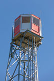 Watch tower steel forest fire lookout structure Stock Images