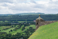 Watch tower at Stirling Castle, Scotland. Watch tower and battlements at Stirling Castle, Scotland Stock Photos