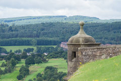 Watch tower at Stirling Castle, Scotland. Watch tower and battlements at Stirling Castle, Scotland Stock Photo