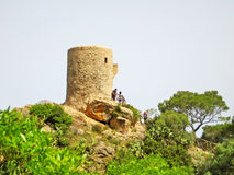 Watch tower Torre del Verger - northwest coast of Majorca Royalty Free Stock Photography