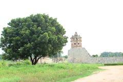 Watch tower. To protect rani mahal at hampi royalty free stock photo