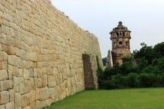 Watch tower. To protect rani mahal at hampi royalty free stock photography