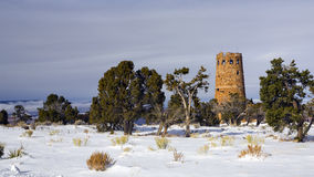Winter Storm at Watch Tower, Grand Canyon Royalty Free Stock Photo