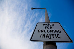 Watch for Traffic Sign Stock Photo