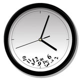 Watch with tumbled numeral. Vector illustration of clock. Watch with tumbled numeral Royalty Free Stock Photos