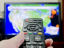 Watch tv Stock Photography