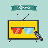 watch tv movie design Royalty Free Stock Photography