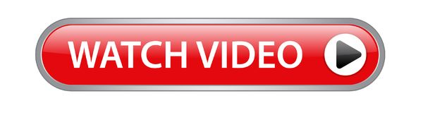 Watch video button. Watch video icon on computer generated web button icon on pure white background royalty free illustration