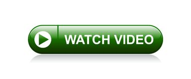 Watch video button. Watch video web button - editable vector illustration on isolated white background royalty free illustration