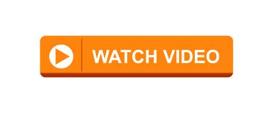 Watch video button. Watch video web button - editable vector illustration on isolated white background stock illustration