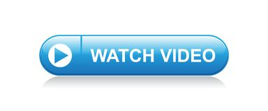 Watch video button. Watch video web button - editable vector illustration on isolated white background vector illustration