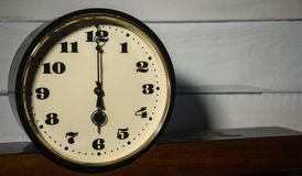 Watch, vintage retro six o`clock in the morning and evening Stock Images