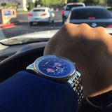 Watch What. Blue Face Breitling Royalty Free Stock Photography