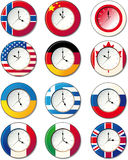 Watch, at which the flags. Watch at which the flags of some countries Vector Illustration