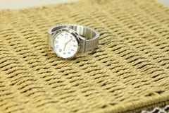 Watch. Women`s watches. The belt stretches Royalty Free Stock Photo