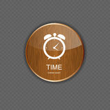 Watch wood application icons Stock Photography