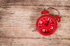 Watch on wooden background Stock Image