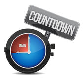 Watch with the word countdown. Illustration design over white Royalty Free Stock Photo