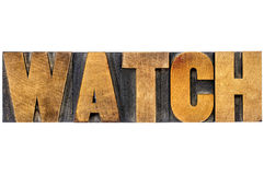 Watch word typography Stock Photo
