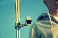 They watch. Watch your back, because it is being watched Stock Photo