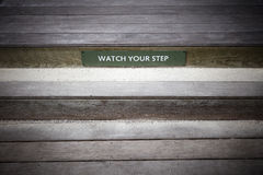Watch Your Step Royalty Free Stock Photo