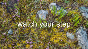 Watch your step Royalty Free Stock Photos