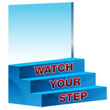 Watch Your Step Icon Royalty Free Stock Photography