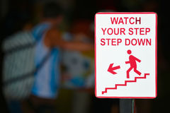Watch your step sign Royalty Free Stock Photos