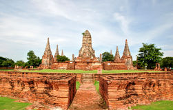 watchai Таиланда старого виска ayutthaya Стоковые Изображения