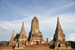 Watchaiwatthanaram 's-Pagoda Arkivbilder