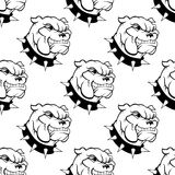 Watchdog seamless. Seamless pattern of a large watchdog with a spiked collar, heavy jowls and an evil toothy grin Royalty Free Stock Images