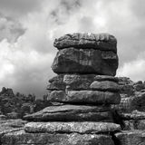 The watcher in Torcal de Antequera Royalty Free Stock Photo