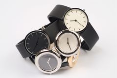 Watches. Group of wrist-watches on a white background Stock Images