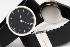 Watches. Couple of watches on a white background Royalty Free Stock Photo