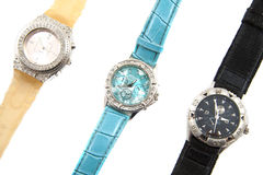 Watches. Three luxery watches isolated on a white background Stock Photo