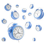 Watches alarm floating in the air,  on a Royalty Free Stock Photos
