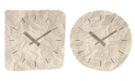 Watches. Crumpled slip of paper and a watches Royalty Free Stock Photos